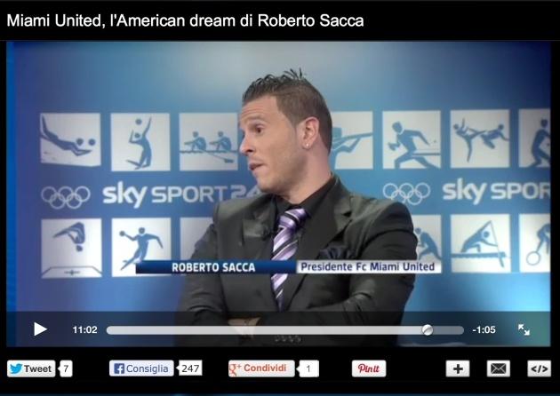 Roberto Saccà ospite nego studi di Sky Sport