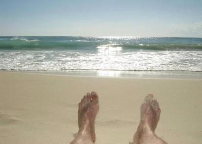 La spiaggia di Playa del Carmen, dove Luca ha abitato per un anno