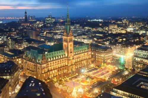 Una prospettiva di Amburgo, la seconda città più popolosa di Germania dopo Berlino