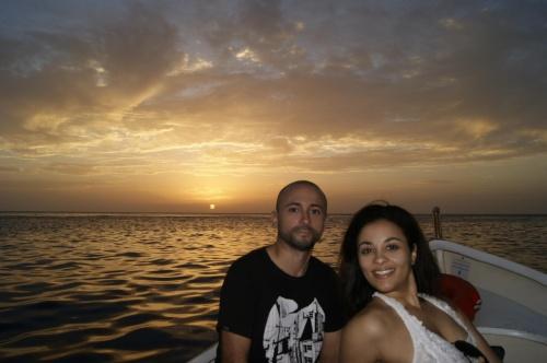 Carlo con la moglie brasiliana, sposati dal 2010
