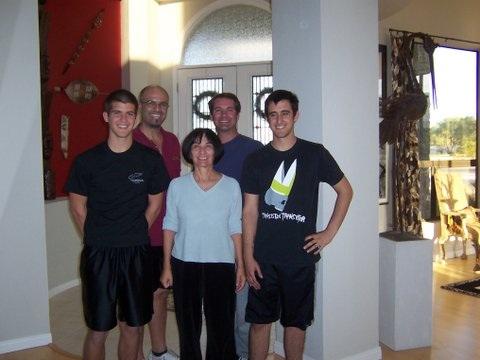 Maria Grazia con figli e nipoti nati negli States