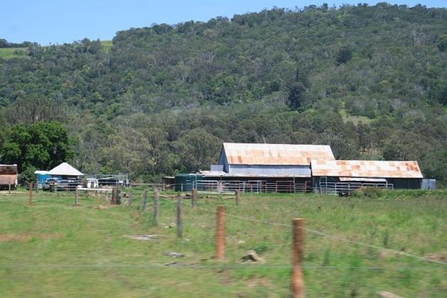 Una tipica farm australiana, nel Queensland a nord di Brisbane